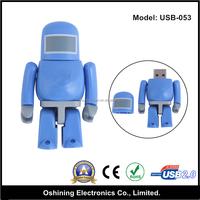 High speed robot shape custom logo usb flash drive