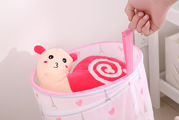 Top level factory supply collapsible printed cloth foldable hamper pop up basket laundry