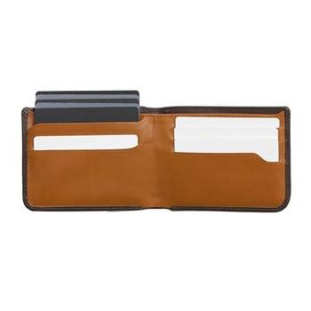 3b60fbfb5186 Custom Logo Men Front Pocket RFID Blocking Fashion Thin Slim Bifold  Multipurpose Vegetable Leather ATM Credit