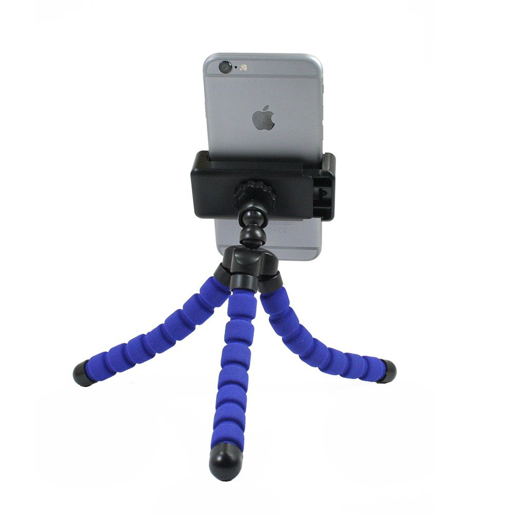 Livestream® Gear - Bendy Tripod with Rotatable Smartphone Clamp. Use for Video Recording, or Live Streaming on Periscope/Meerkat. Operable with Any Phone. Perfect for Travel. (Blue)