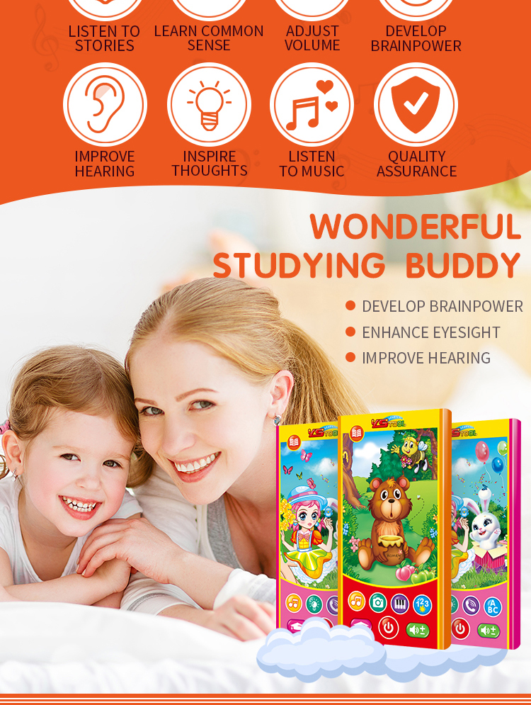 Wholesale battery operated learning baby phone toy