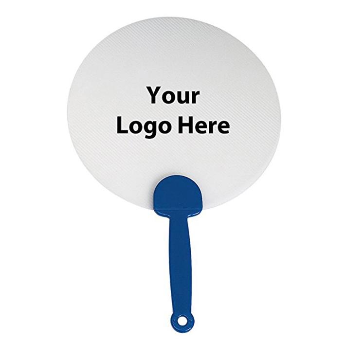 Personalizado colorido padrão de Impressão PP Manual de Plástico Ventilador de Mão Ventilador de Mão de Plástico Promocionais
