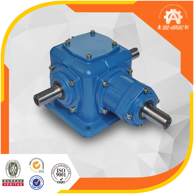 Gearbox Manufacturer T Series 5:1 ratio 90 degree bevel gearbox