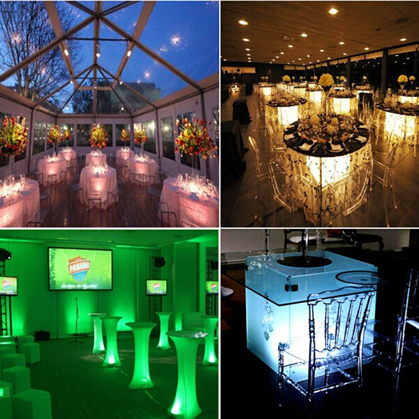 Color Changing High Brightness Long Working Time Battery Ed Led Under Banquet Table Lighting