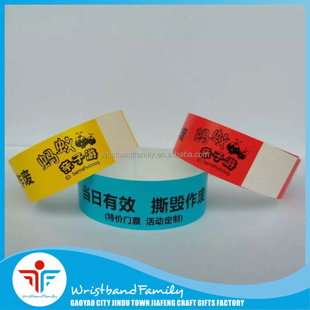 Cheap Price Tyvek Paper Wristband Customized for Event