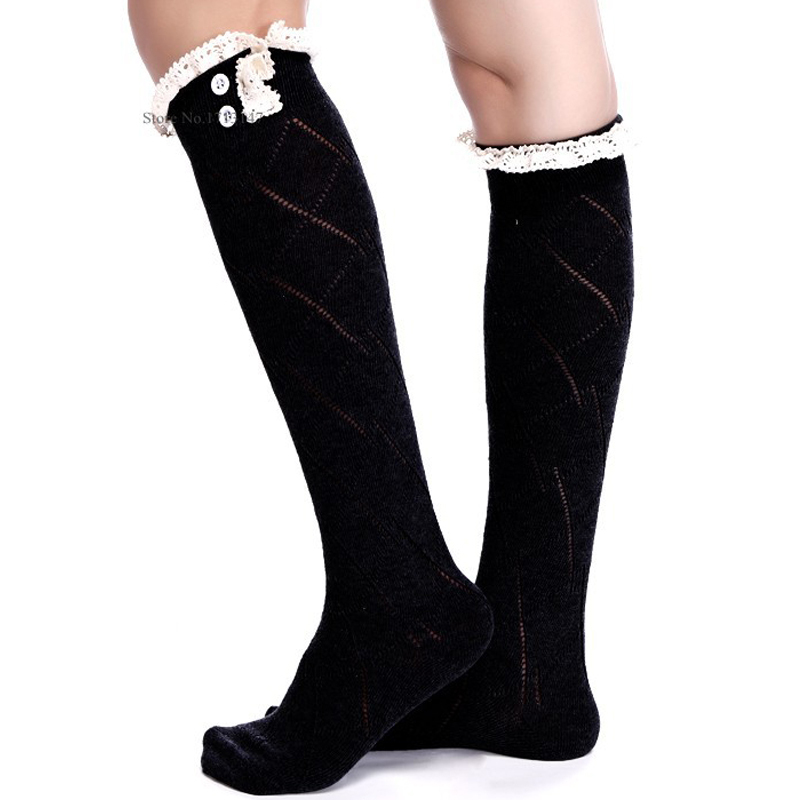 Cheap Lace Knee High Socks For Boots Find Lace Knee High Socks For