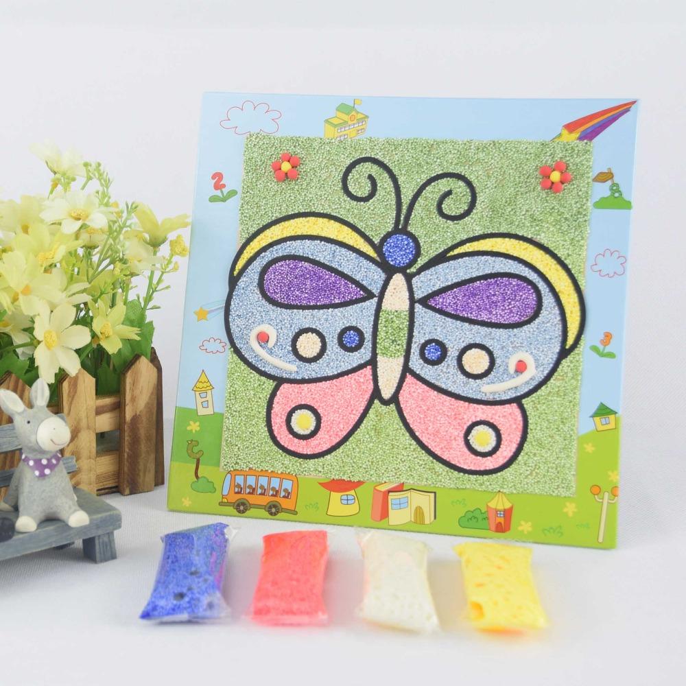 Oem Kinder Diy Förderung Weihnachten Einfach Lernen Ton 3d Schnee Sand  Malerei Kunst Bildung Puzzle Spielzeug