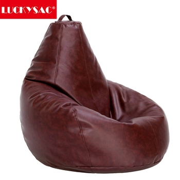 Genuine Leather Bean Bag Chair Filling With Eps Beans