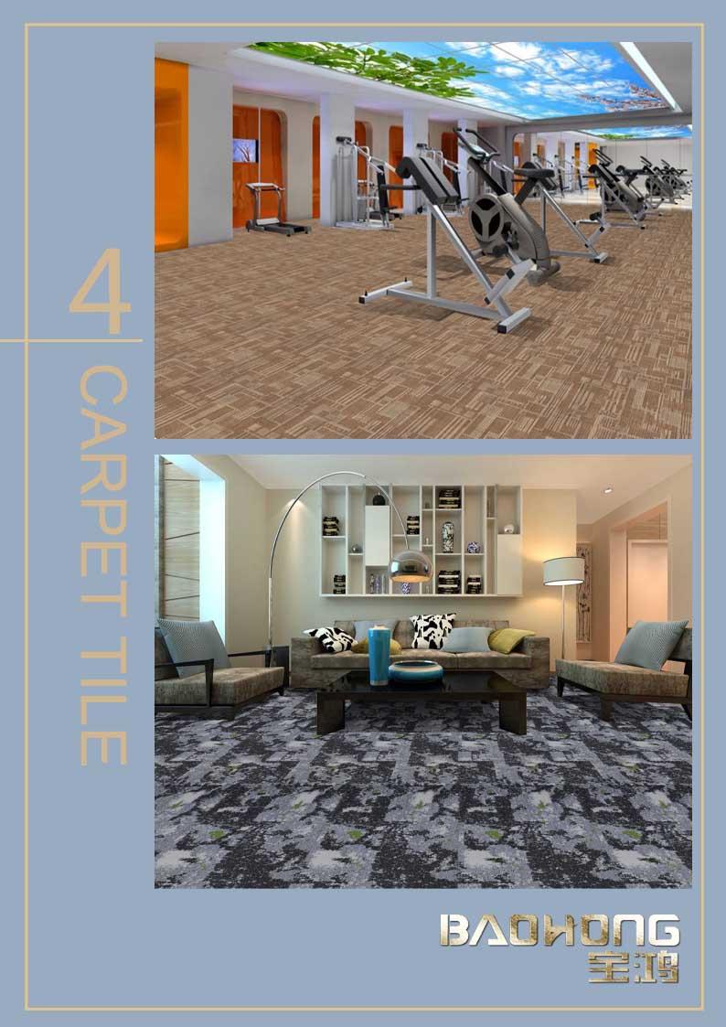 Commerciële nylon tapijt tiles50x50cm met PVC backing