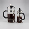 Unique Stainless Steel Frame Glass Cafetiere French Press Coffee Maker