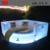 New design luxury Circle shape hotel bed with LED lighting