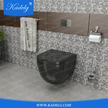 Wall Hanging Toilet european luxury wall hung toilet black wc pan - buy wc pan,black