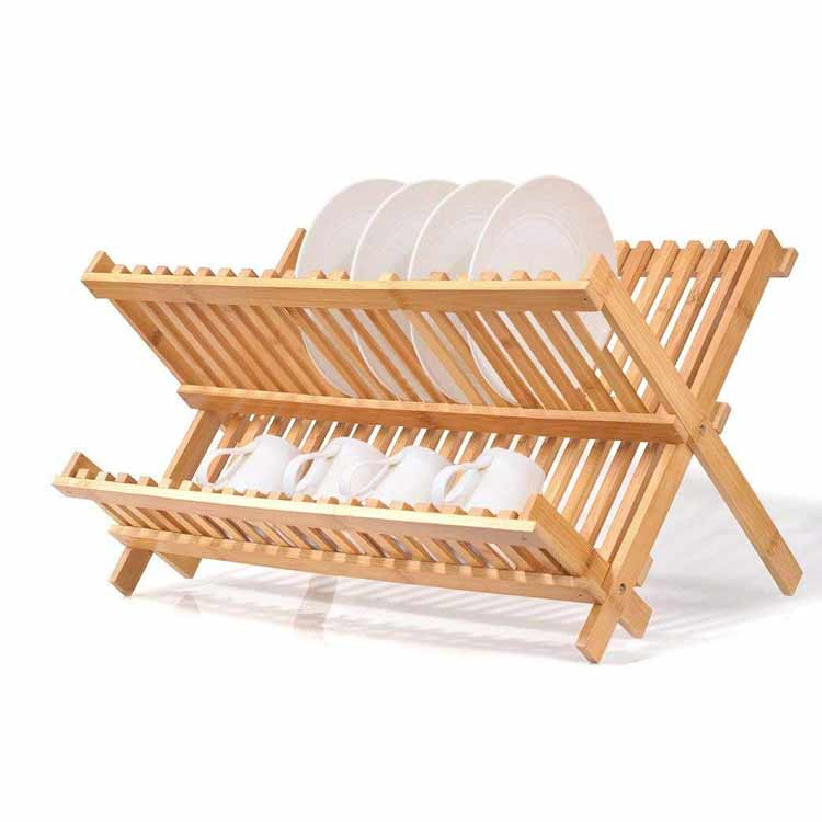 High Quality Bamboo Plate Rack 3