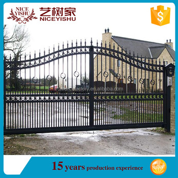 Latest Factory price House main iron gate designs  sliding metal gate  designs for homes. Latest Factory Price House Main Iron Gate Designs  sliding Metal