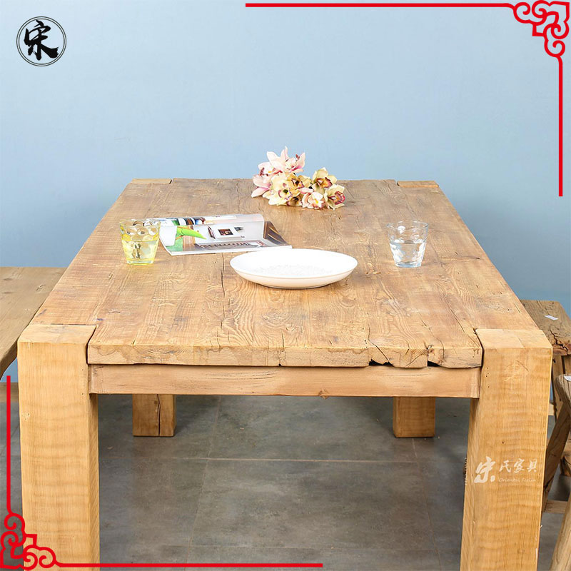 Chinese reclaimed wood dining room furniture table Beijing