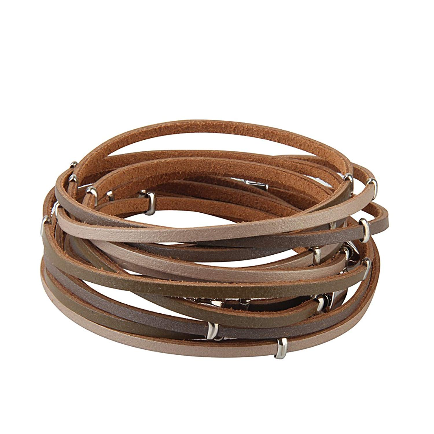JAOYU Leather Bracelet Women Bead Bracelets for Girls Multilayer Rope Braided Bangle - Handmade Jewelry Gifts