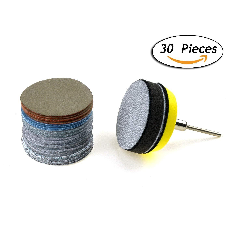 """2/"""" Wet//Dry Hook /& Loop Sanding Discs Backing Pad Soft Sponge Buffering pad"""