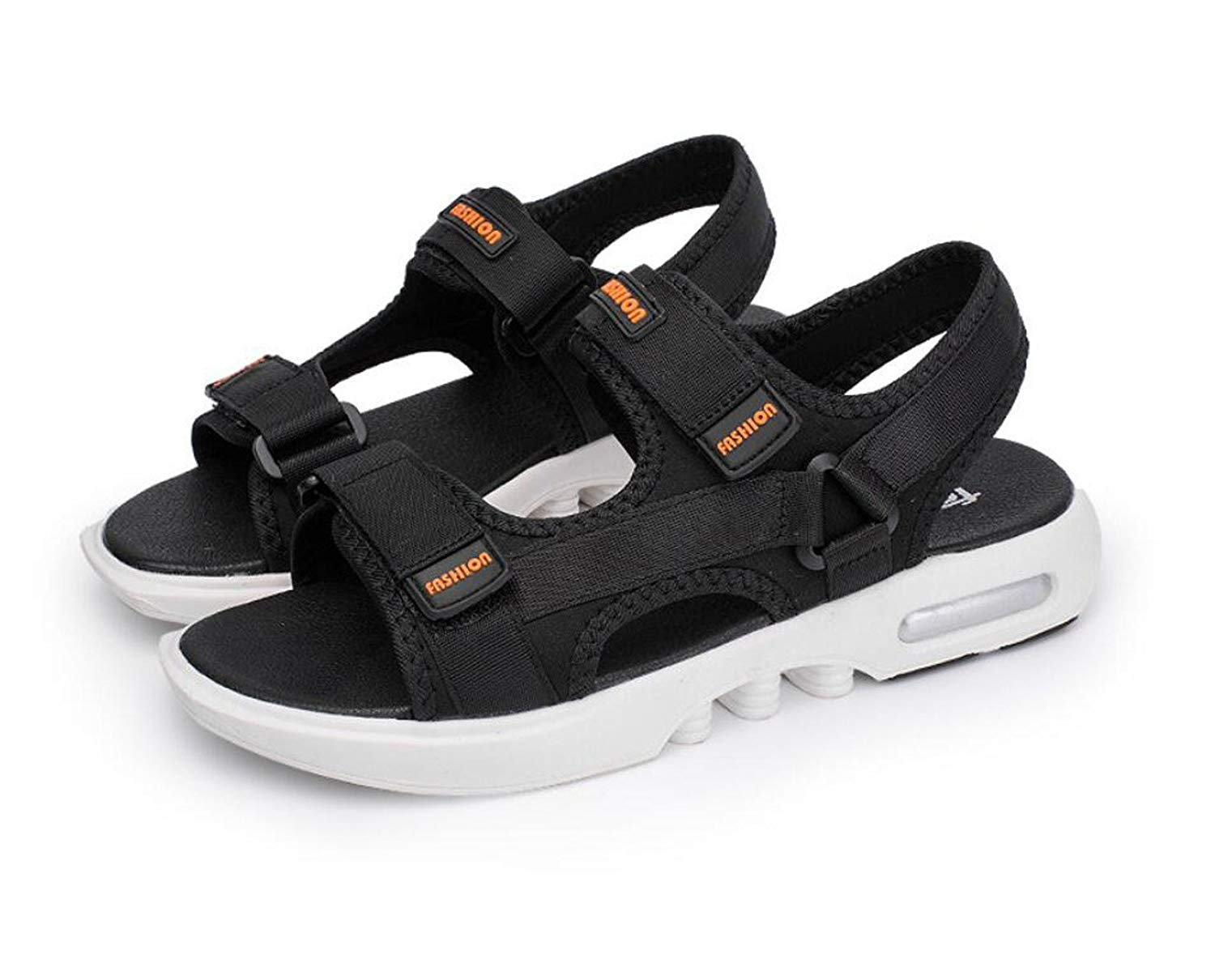 edf2e13d8 Get Quotations · DANDANJIE Mens Sandals Velcro Strap Sports Walking Open Toe  Sandals Flip Flops - for Outdoor Spring
