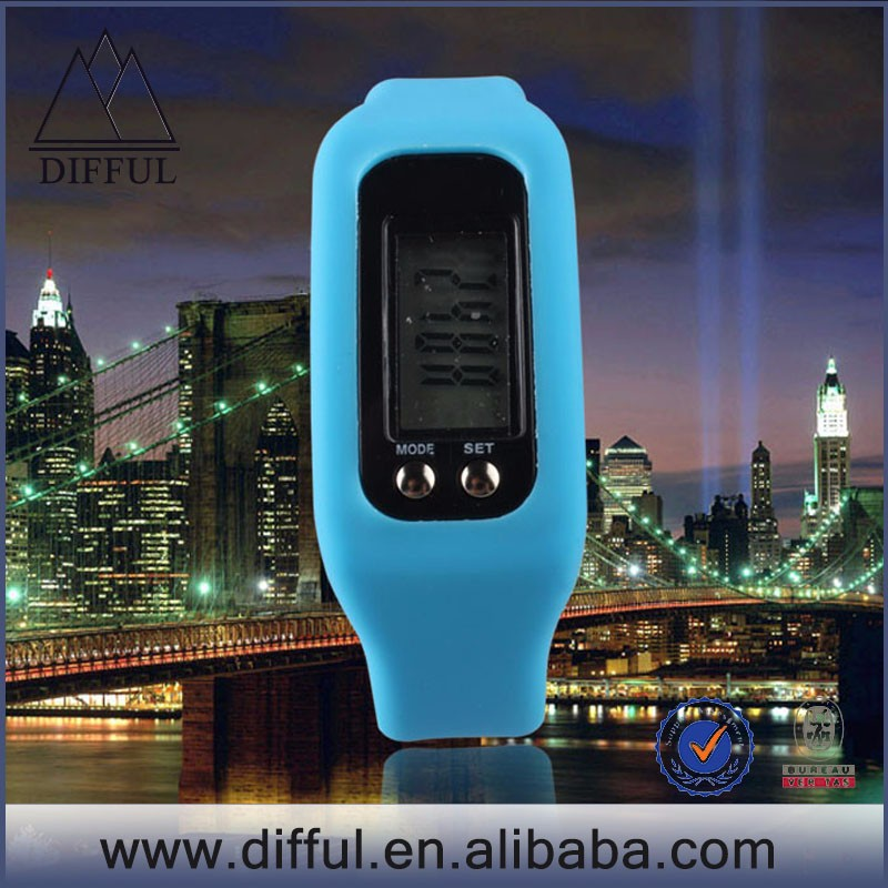 Most popular 2D Sensor higher quality chip Multifunctional silicone Bracelet Pedometer watch
