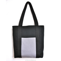China manufacturer made recyclable custom cotton canvas tote bags with pocket