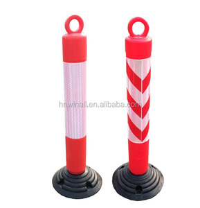 PE And Rubber Reflective Traffic Safety Warning Post