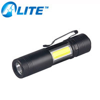 Custom Logo Super Bright Bulk 3W LED COB Mini Flashlight with Clip
