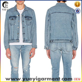 Jeans Jacket Men Denim Wholesale Denim Jackets Custom Plain Denim
