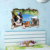 new design 3D cute cat and dog window wall sticker for room decoration