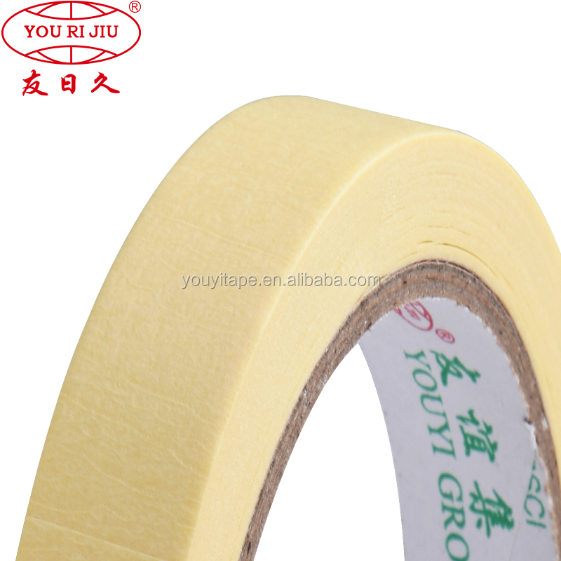 High temperature self adhesive acrylic Masking Paper Gum Tape For Car Painting