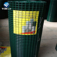 China manufacturer 1/2 inch green vinyl pvc coated welded wire mesh fence panel