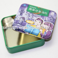 Mini Breath mint tin with hinges and plastic insert