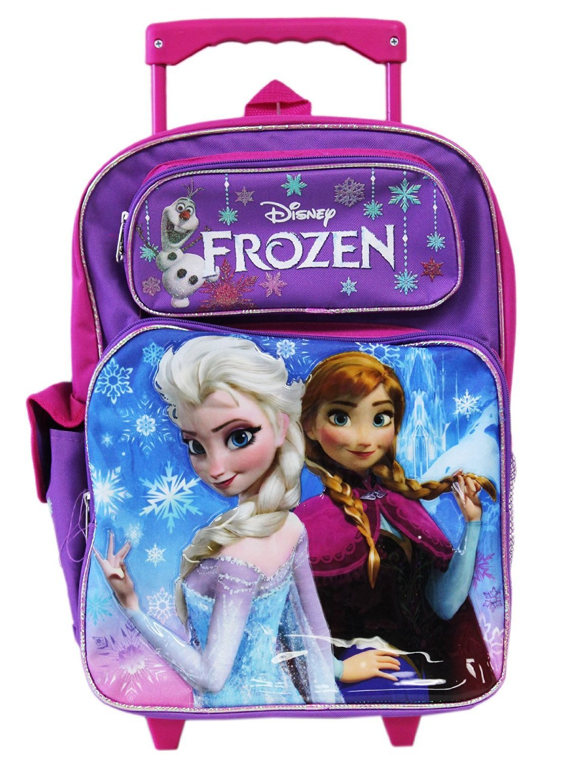 "edca1fb9aad3 Buy Frozen Pink 16"" Large Rolling Backpack Plus Frozen Elsa and ..."