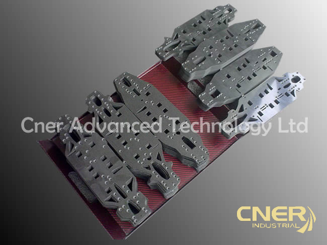 3K carbon fiber tube/ sheet plate with cnc machining for UAV Aerial frame