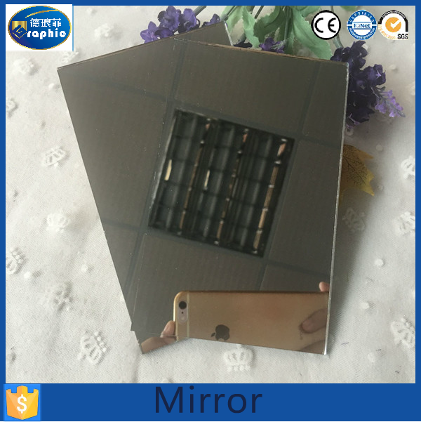 Hot sale fancy single side half silver mirror factories in china