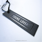 China factory recycled UV spot logo jeans paper hang tags