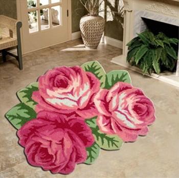 Flower Shaped Acrylic Rugs Buy Flower Shaped Acrylic Rugspink