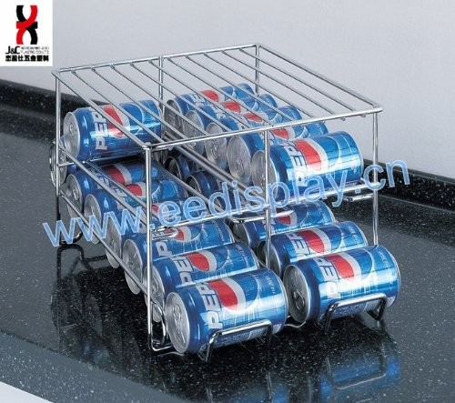 New Chrome 24 Drink Can Holder For Refrigerator