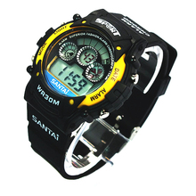 Silicone strap LED display watch sport style men watches chronograph function cheap watch