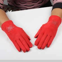 Hottest diamdon on wrist girls touchscreen conductive fingers gloves bluetooth speaker hello gloves