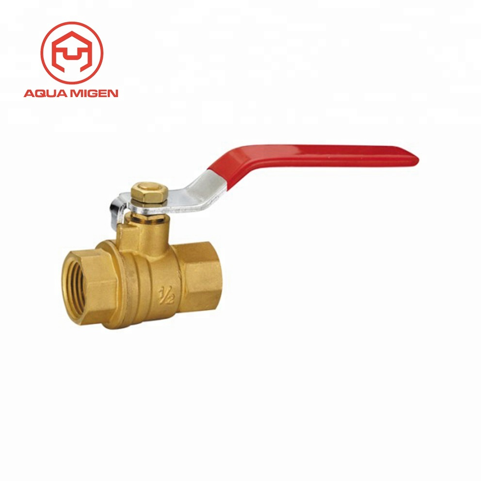 1//2 Mini ball valve with reduced bore with butterfly handle and internal//external thread