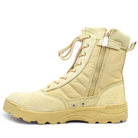Swede Leather Beige Swat Desert Boots