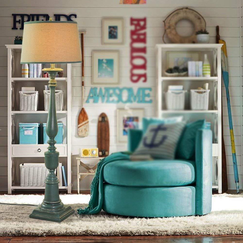 SED Floor Lamp Living Room Decoration Nordic American - Style High - End Luxury Mediterranean Green Resin in Southeast Asia Floor Lamp Office Bedroom Floor Lamp Table Lamp Vertical Eye Protection