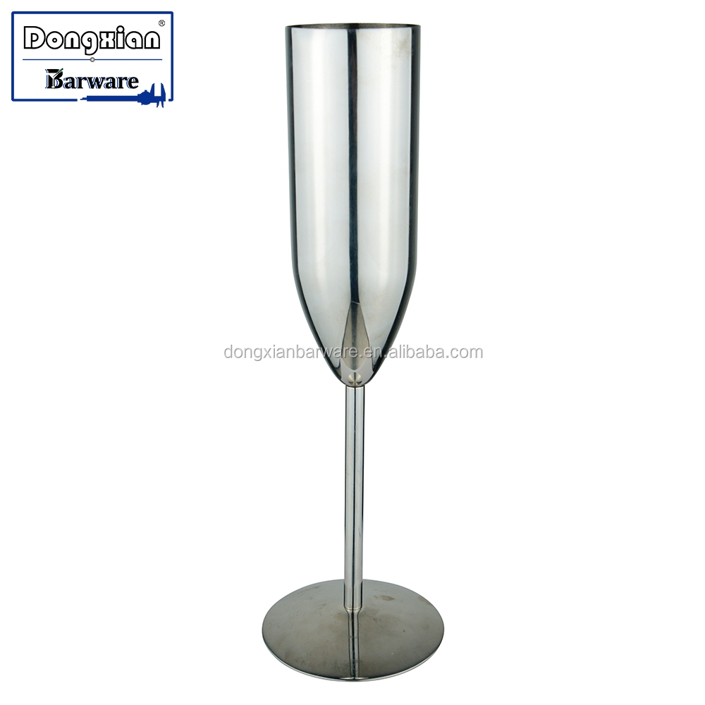Stainless Steel Champagne Flute Unbreakable Shatterproof Wine Cup