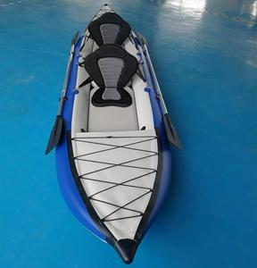 2019 new design strong PVC light weight inflatable kayak tandem fishing boat