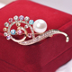 Fancylove Jewelry colorful crystal wedding dress decoration brooch shawl clip