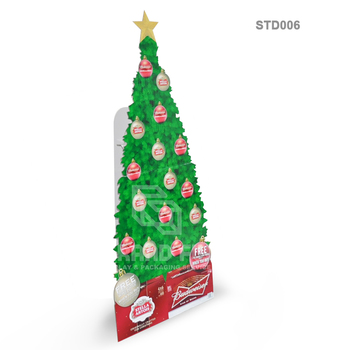 Christmas Tree Cardboard Standee Advertising Banners For Presetns