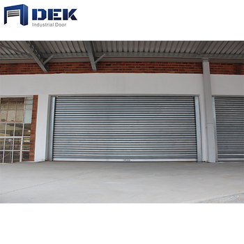 Main Gate Door Design Automatic Roller Shutter Garage Door Aluminum