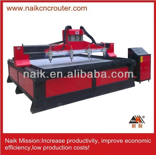 best used cnc milling machine for wood stone TC-2430 with 4 spindles