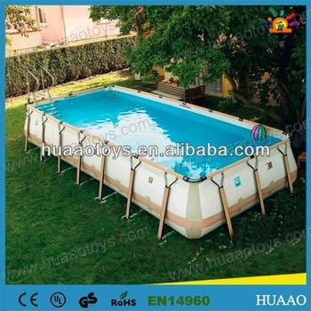 2014 hot sale above ground galvanized steel swimming pool Purchase above ground swimming pool