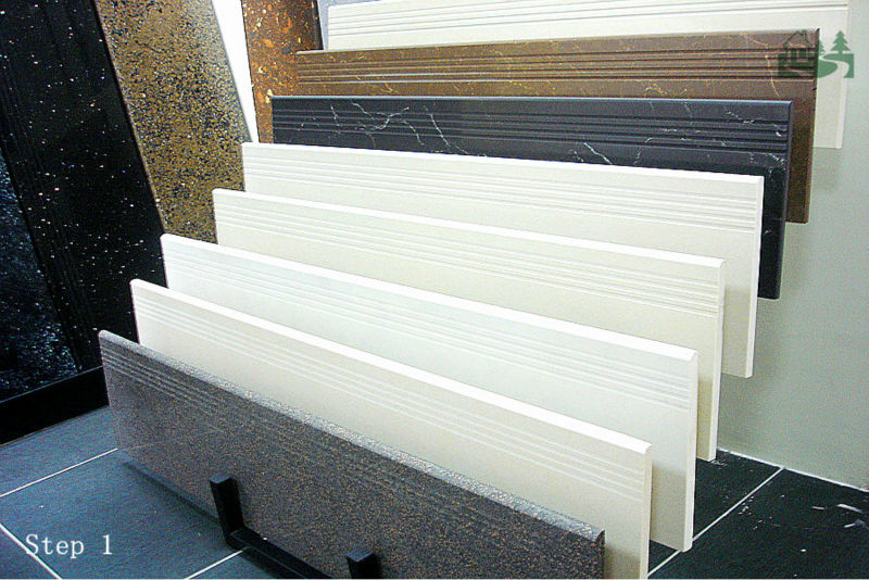 1300x300x18mm Full Body Granite Like Polished Porcelain Step Tiles    ECO Friendly Stair Parts